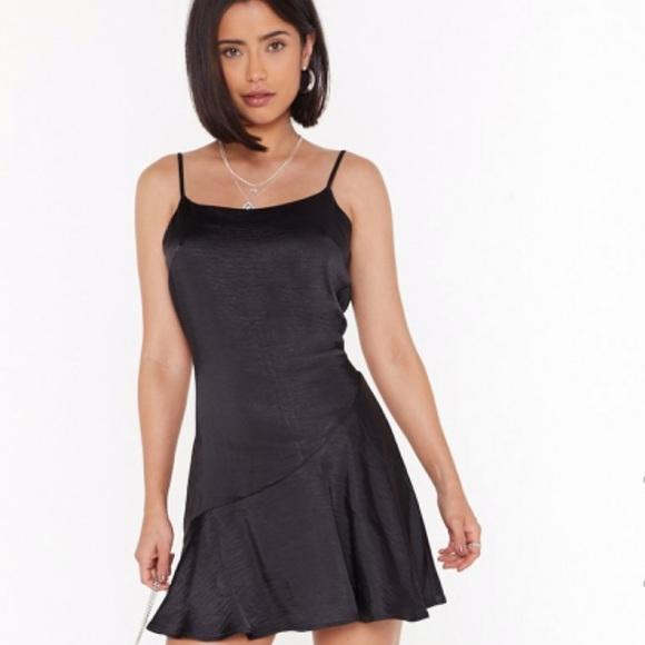 Nasty Gal Dresses & Skirts - Satin flare dress